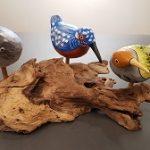 Vogels op drijfhout